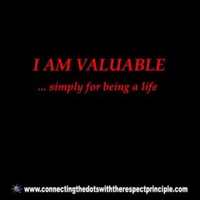 CTDWTRP Quote Block Black I am valuable