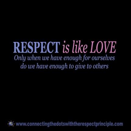 CTDWTRP Quote Block Black Respect is like Love