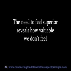 CTDWTRP Quote Block Black The need to feel superior ..