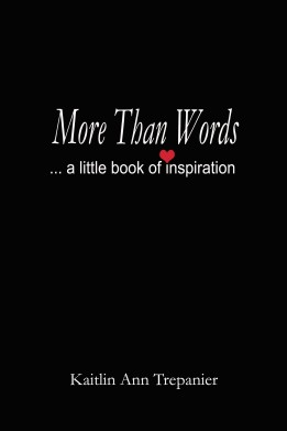 More Than Words a little book of inspiration
